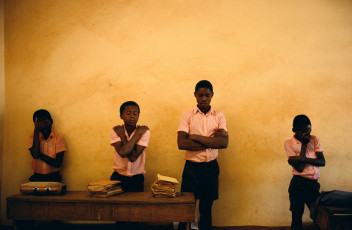 HAITI. Bombardopolis. 1986. School prayers.